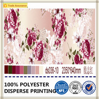 Changxing factory 100% polyester soft fabric luxury flower design disperse printed fabirc
