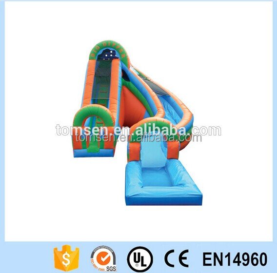 Inflatable water slide,inflatable commercial slide,inflatable lane slip slide