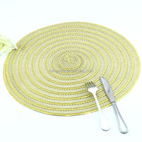 bling bling round new design Dinner plate tablemat