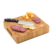 High QualityNew product bamboo end grain cutting board For Meat & Veggie Prep, Serve Bread, Crackers & Cheese, Cockt