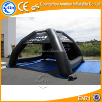 Black color inflatable dome garage tent, inflatable canopy/tent uk