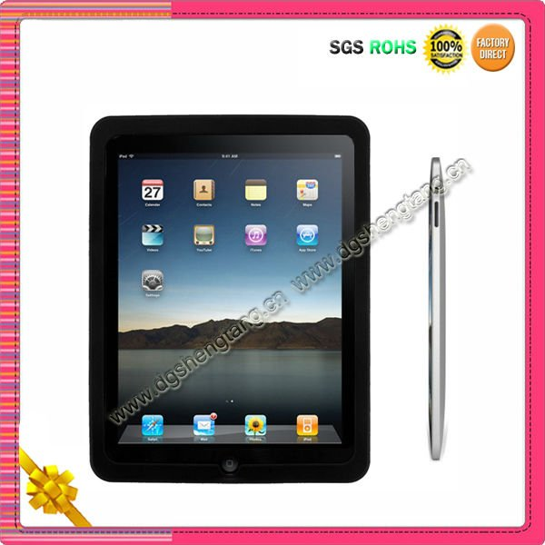 Cheap flexible silicone back cover for Ipad2 case