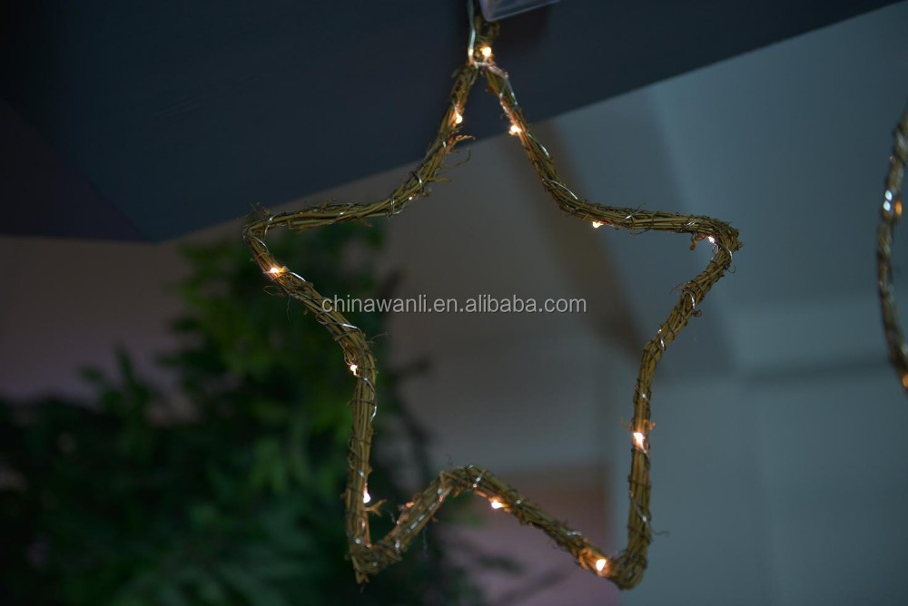 40cm decoration ratten star led light