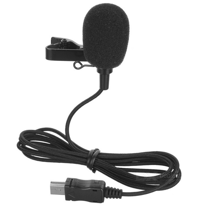 Mini USB External Microphone w/ 1.15m Cable for Sports Camera 3 / 3+ / 4