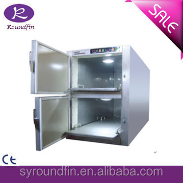 hot sale stainless steel mortuary refrigerator 2 corpses