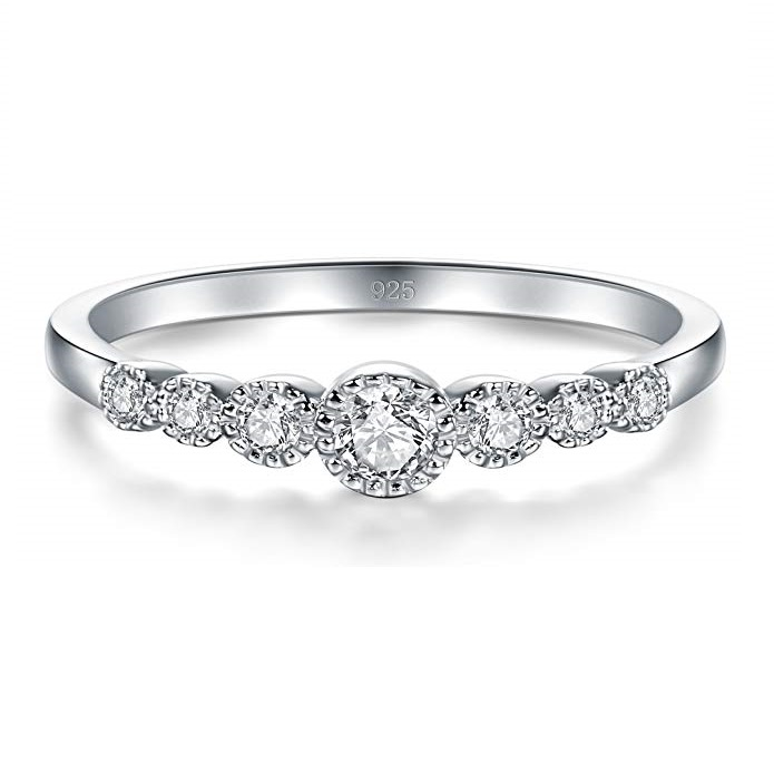 925 Silver <strong>Ring</strong> AAA Cubic Zirconia Engagement <strong>Ring</strong> for Women