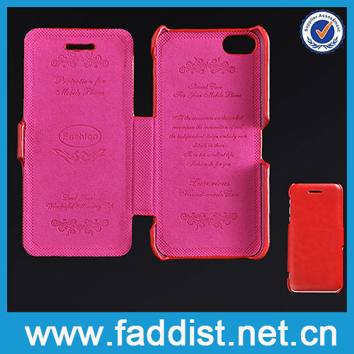 Mobile Phone Case Slim Flip PU Cover for iphone 5c Hot Sell