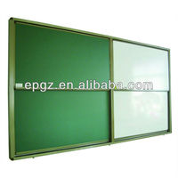 Aluminum frame magnetic chalk writing school green board