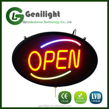 Large Super Bright Oval LED Open Sign