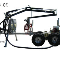 350 Flatbed Trailer With Crane