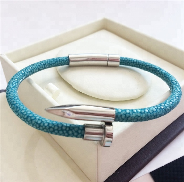Best Sale Luxury Genuine Stingray Leather Bracelet _2
