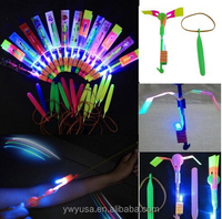 Electronic Toys Type led flying toys led light up flying arrow helicopter for kids