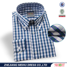 wholesale summer non iron long sleeve check shirts for men