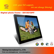 "19"" electric digital picture frame for advertising display"