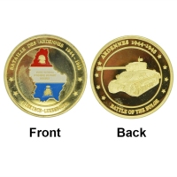 Online wholesale shop 24k gold coin The Bataille Des Ardennes low price souvenir coin machine as business gift