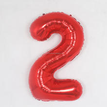 Party Supplies Wholesale China 40inch RED foil number inflatable zeppelin helium balloon for party new year decoration