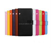 Smooth PU leather case for iPhone 6 with card slots & magnet flip