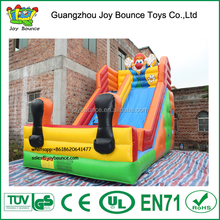 cartoon inflatable clown slide for sale