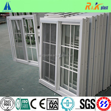 80 series upvc sliding window with decorative bar