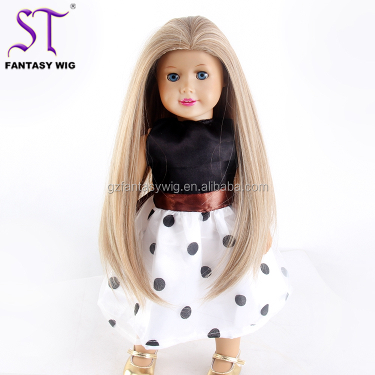 Welcome New Small Order Fantasywig Cheap Wholesale Synthetic American Girl Doll Wig With CE Certificated