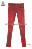 Top Fashionable Skinny Fitted Pants Tapered New Model Jeans for Lady