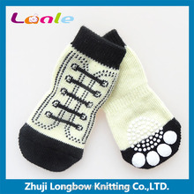 New fashion quality wholesale pet socks fashion non-slip dog socks