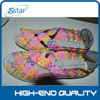 women nude casual sandals shoe 2014 hand-woven shoes the best selling