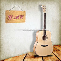 Professional acoustic guitar with flame maple guitar neck