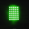 mini green led 5x7 matrix display,round dot 7x5 matrix led