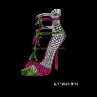 Fashion AKA Shoes rhinestone hotfix transfers for T-shirts wholesale