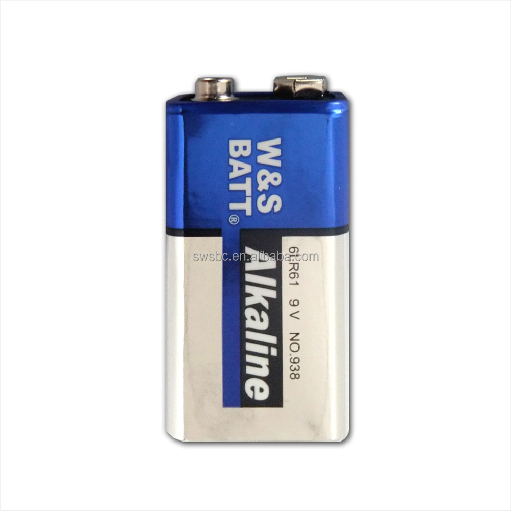 Top Selling 9V 6LR61 Mercury Free Alkaline Battery