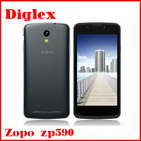 ZOPO ZP590 mobile phone MTK6582 Quad Core Cell Phone Android 4.4 512MB RAM 4GB ROM 3G 5MP Camera 4.5inch Smartphone