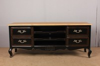 Antique appearence solid wooden frame classical tv cabinet