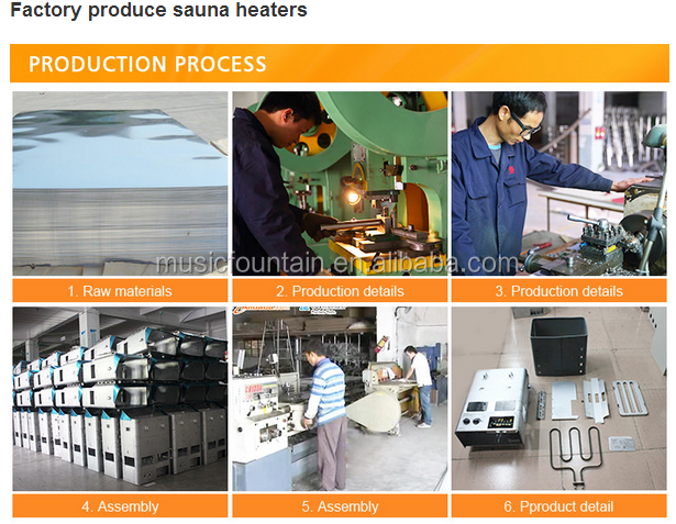 dry steam electric sauna heating element