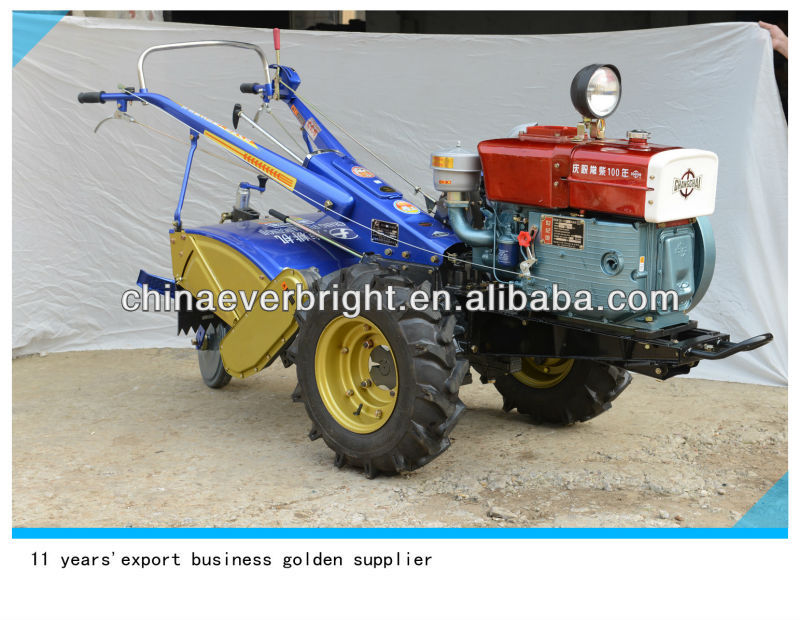 India Type 15HP walking tractor/two-wheeled tractors/gravely walk behind