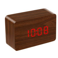 many colors selectable 2016 wooden LED square Digital capacity Alarm unique Desk Clock