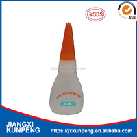 Producing Instant bond super glue adhesive for metal plastic wood rubber