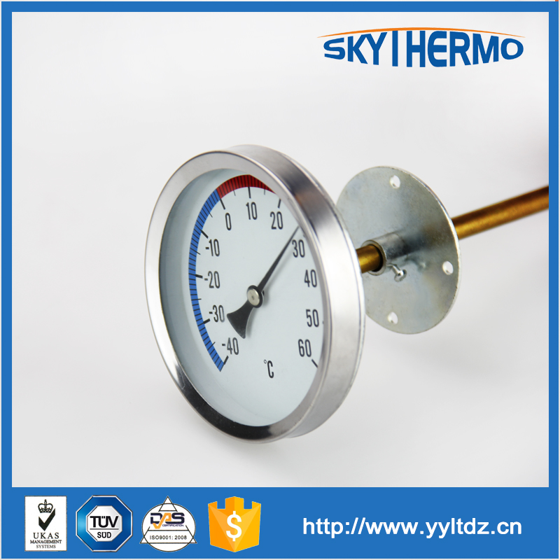 With over 20 years experience axial type industrial bimetallic thermometer