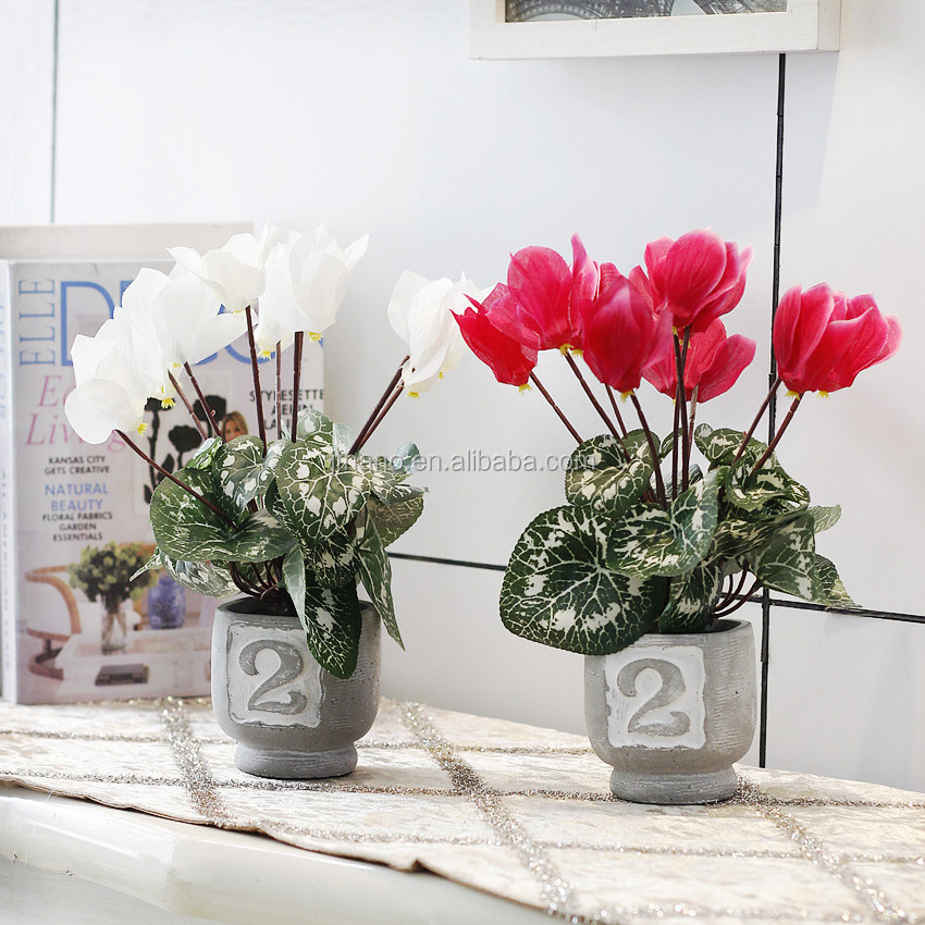 Realistic potted plants suit artificial flowers plants for living room