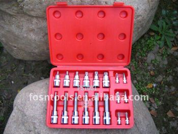 Specialty 18 pcs Spline Socket Bit set