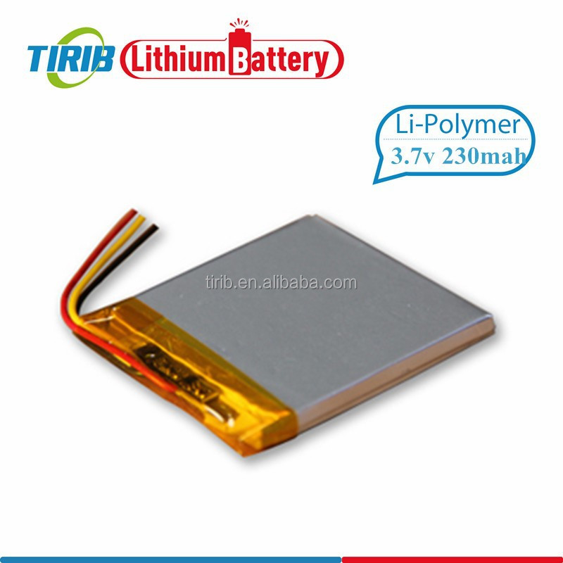 Ultra Thin Lithium Polymer Battery 3.7v 230mah Use for Bluetooth Earphone