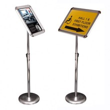 Adjustable indoor menu board poster sign information display stand
