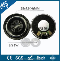 China supplier 8ohm 1w 28mm professional speaker parts