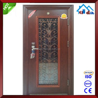 Safety Entry Wrought Iron And Glass Door