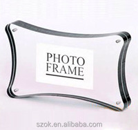 handmade clear acrylic flower shape craft photo picture frame wholesale
