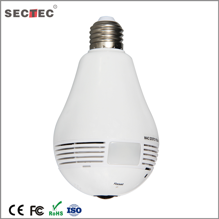960P Hidden Camera Light Bulb Surveillance Camera 360 Degree Kamera Wifi