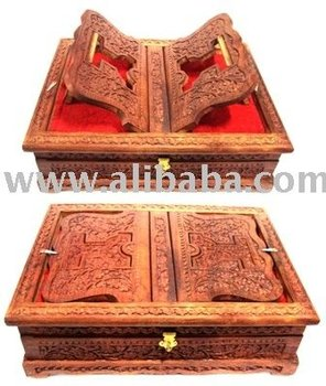 Carved Sesam Wood Book Case