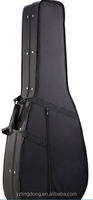 Hard foam custom black guitar case