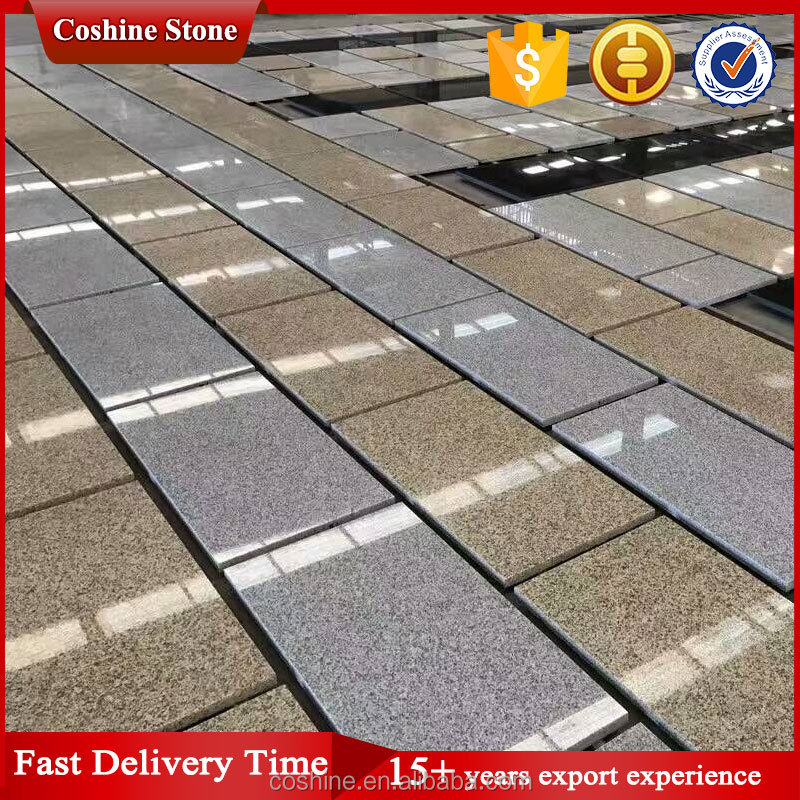 Make up high polished degree g603 grey granite, g682 yellow beige granite tiles