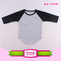 Children Raglan T Shirts Cotton 3/4 Sleeve Baseball Tees Bulk Wholesale Kids Clothing